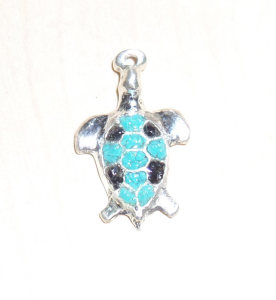 Black Onyx and Turquoise turtle