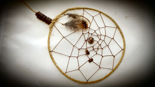 Hand made dream catcher art