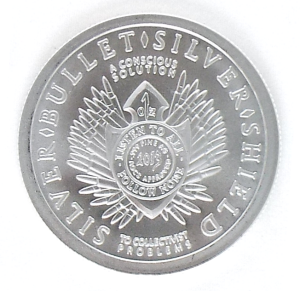 .999 Silver freedom coin back